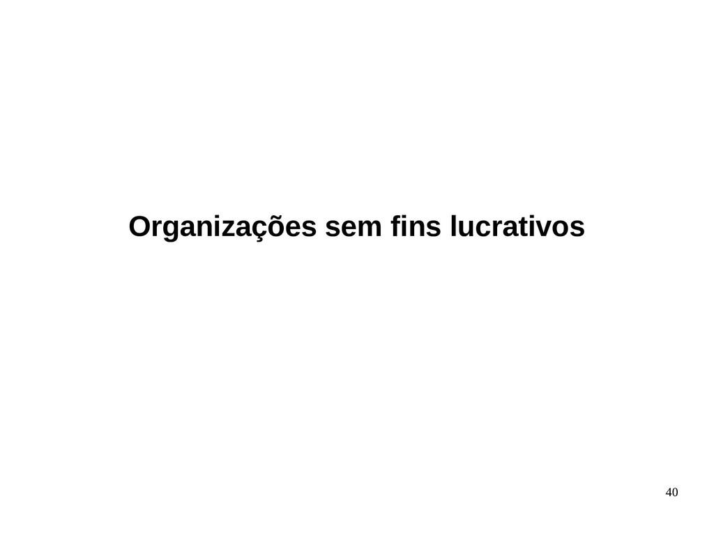 40 Organizações sem fins lucrativos