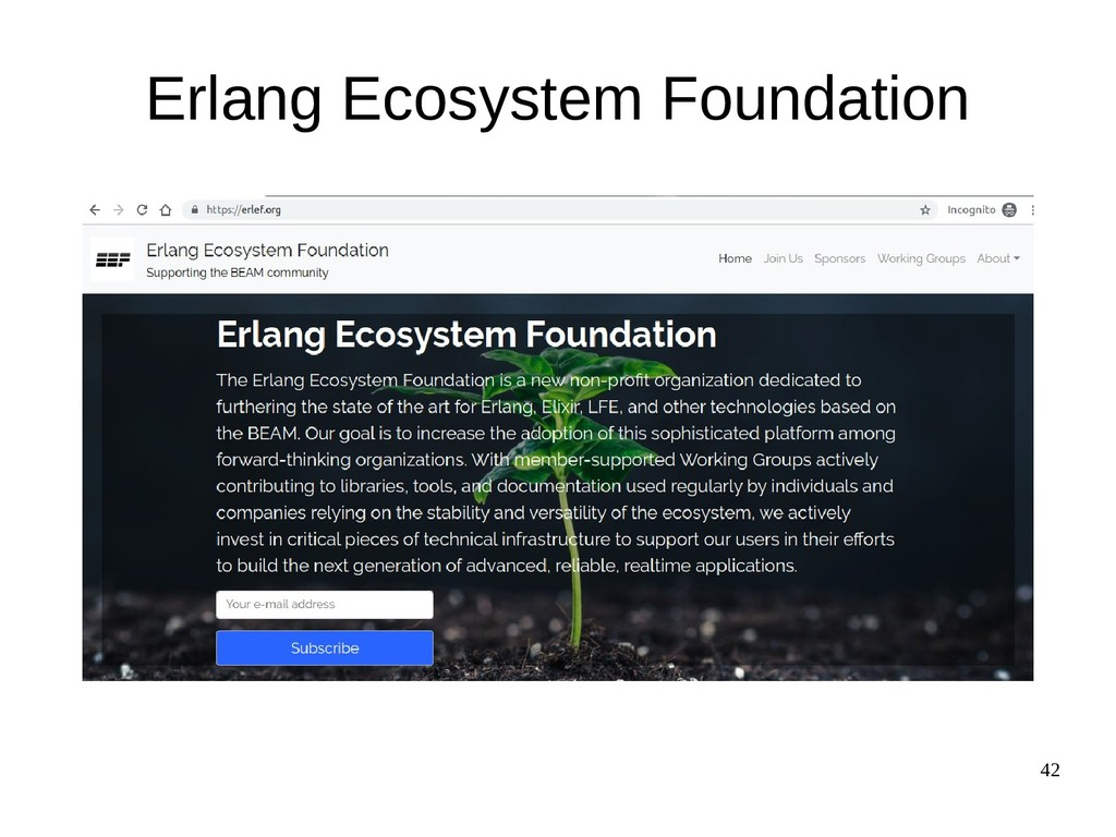 42 Erlang Ecosystem Foundation