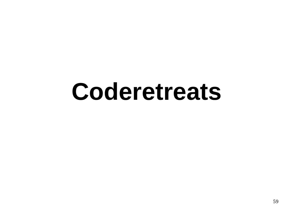 59 Coderetreats