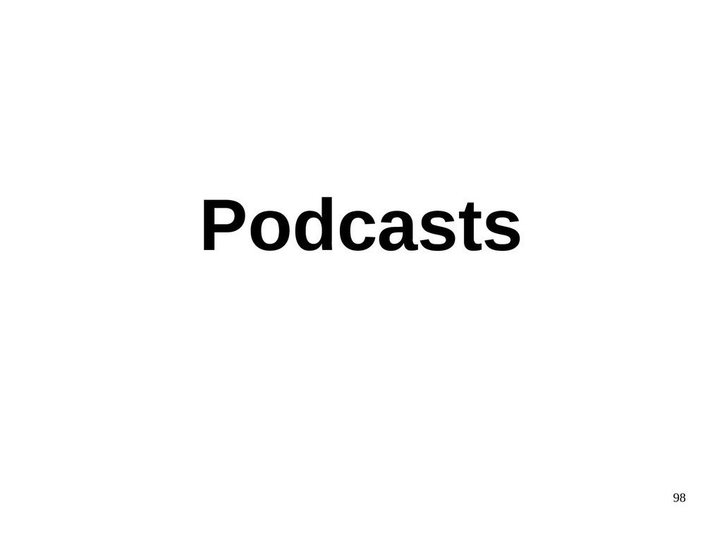 98 Podcasts