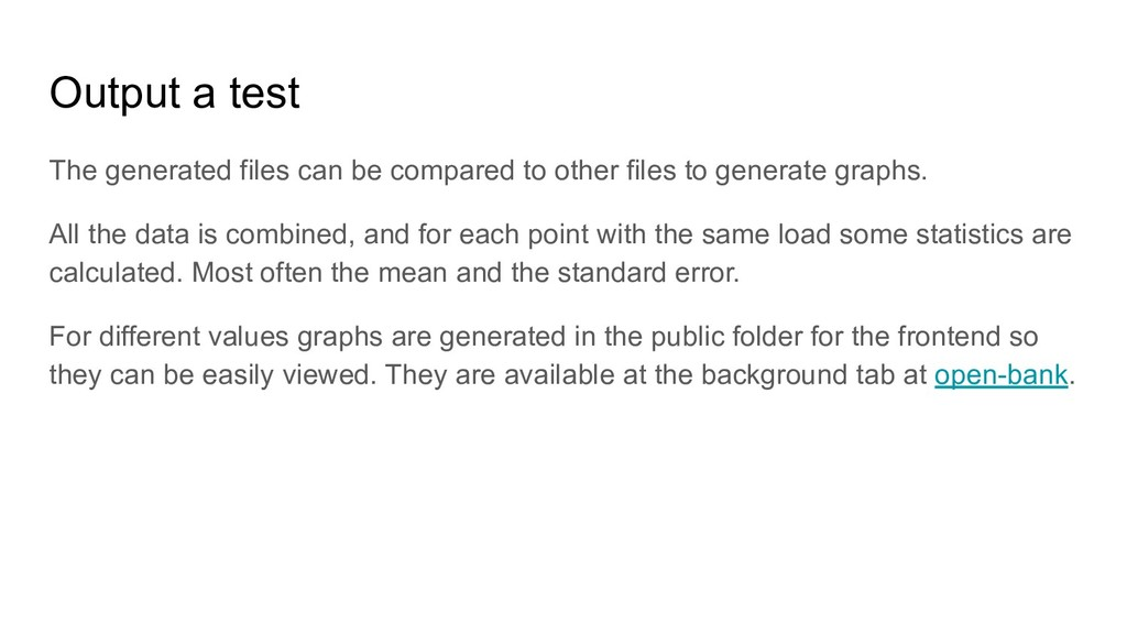 Output a test The generated files can be compar...