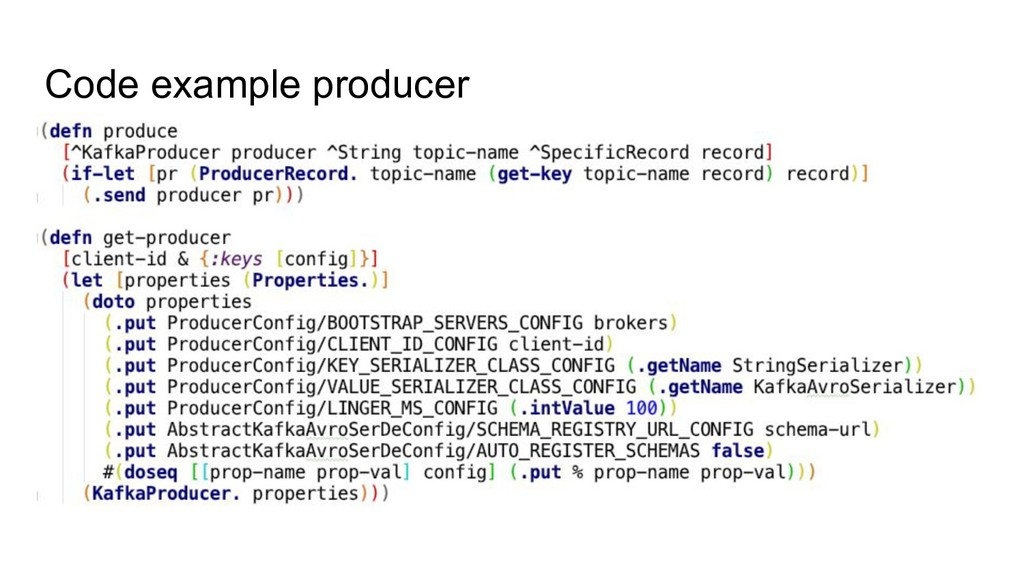 Code example producer