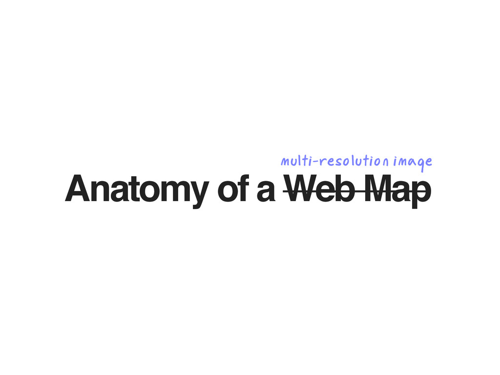 Anatomy of a Web Map multi-resolution image