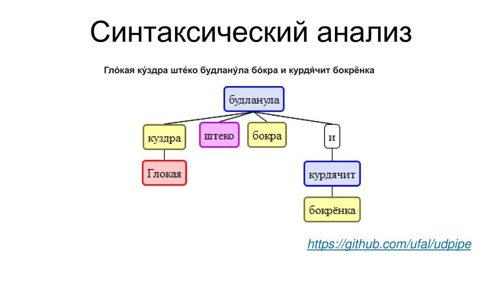 Синтаксический анализ https://github.com/ufal/u...