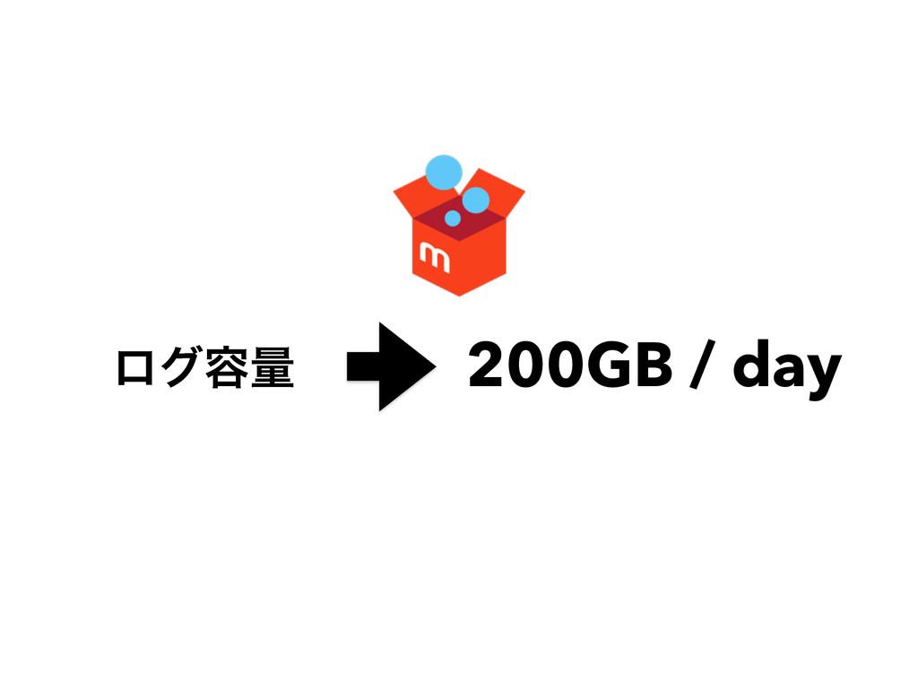 200GB / day ϩά༰ྔ