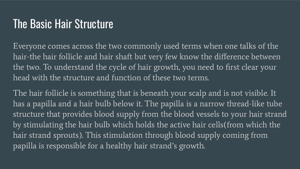 The Basic Hair Structure Everyone comes across ...