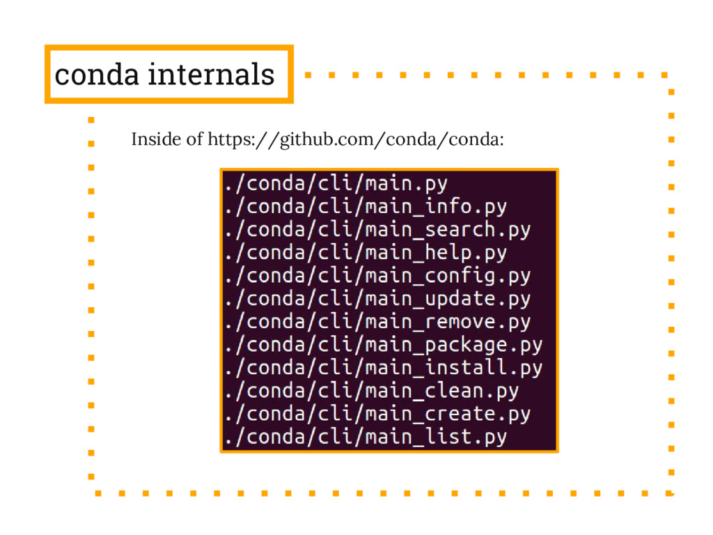 conda internals Inside of https://github.com/co...