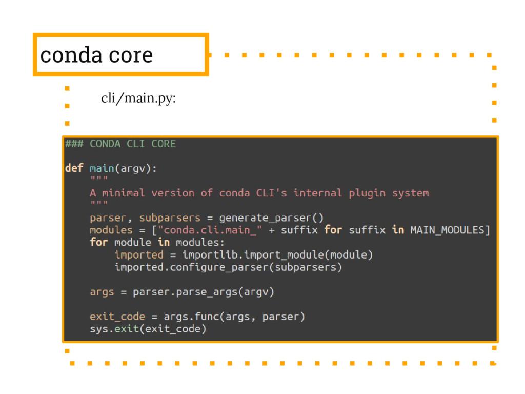 conda core cli/main.py: