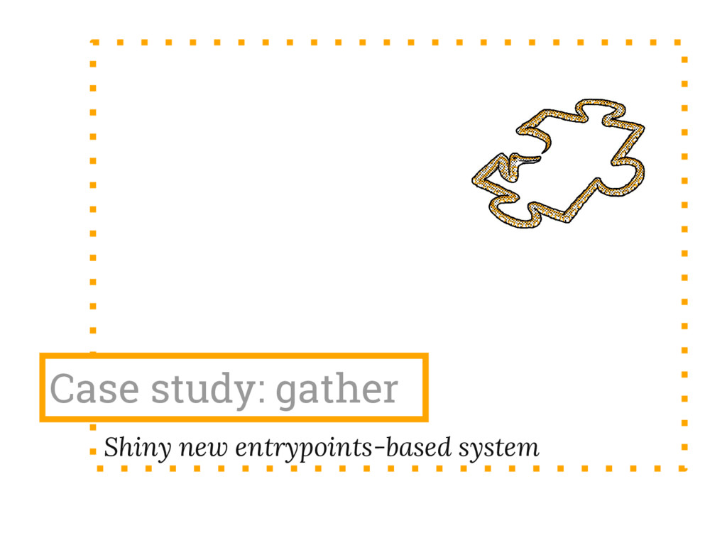 Case study: gather Shiny new entrypoints-based ...