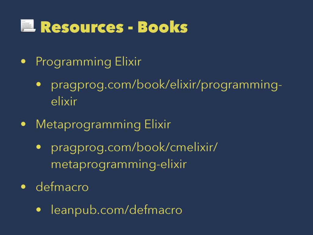 ! Resources - Books • Programming Elixir • prag...