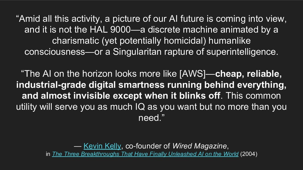 """Amid all this activity, a picture of our AI fu..."
