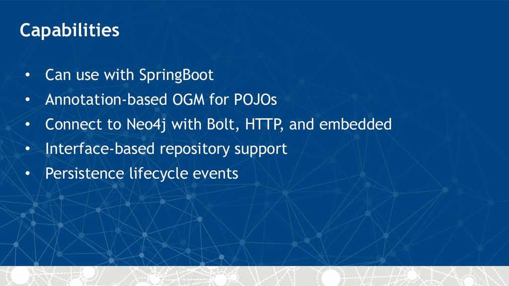 Capabilities • Can use with SpringBoot • Annota...