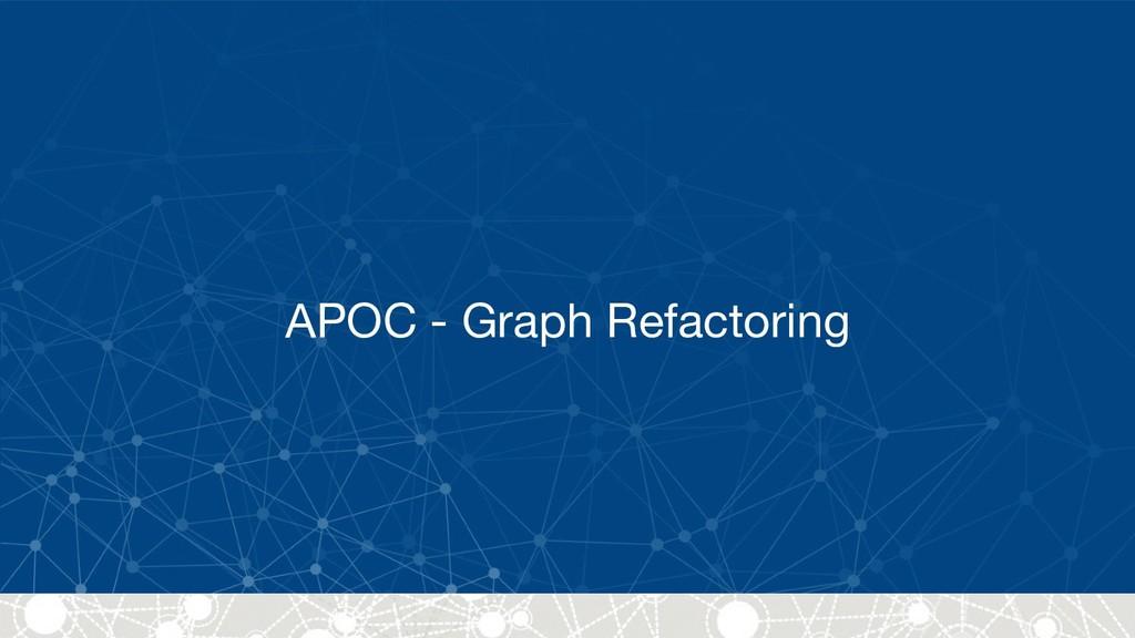 APOC - Graph Refactoring