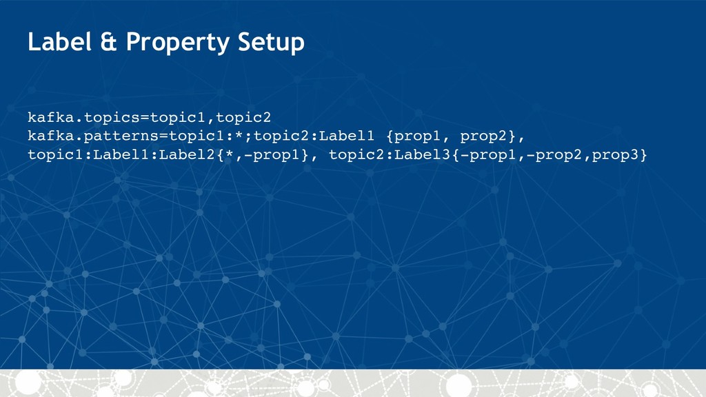 Label & Property Setup kafka.topics=topic1,topi...