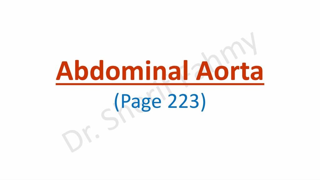 Abdominal Aorta (Page 223)