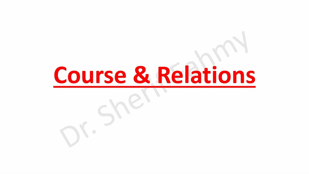 Course & Relations