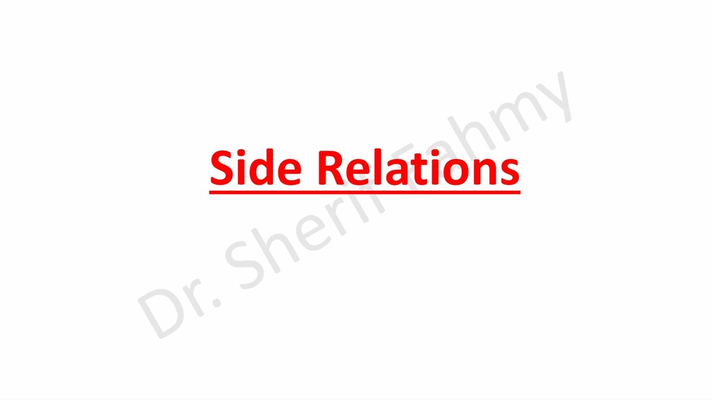 Side Relations