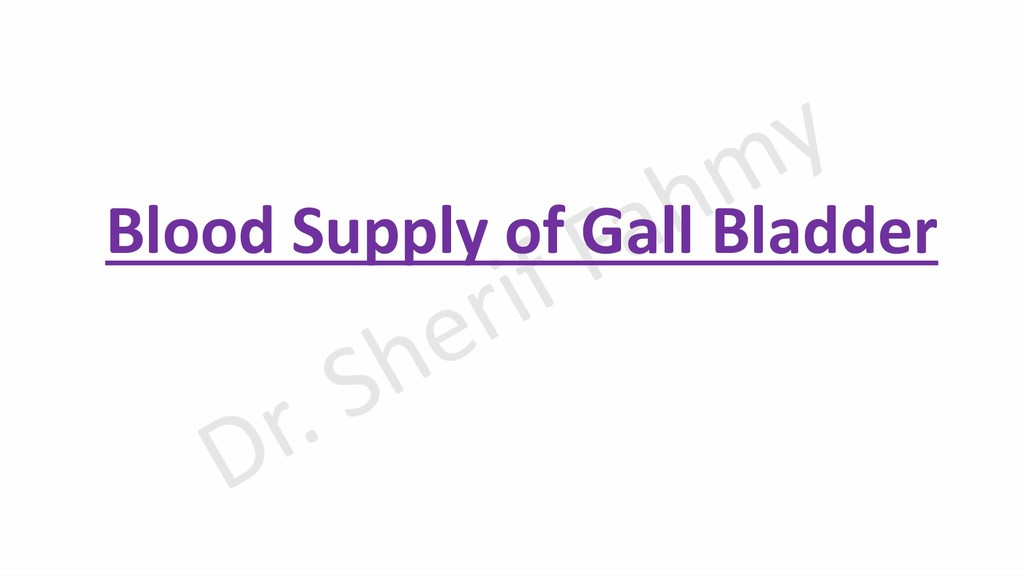 Blood Supply of Gall Bladder