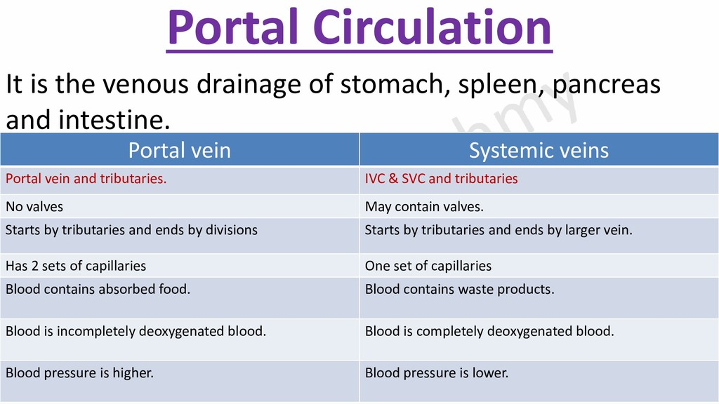 Portal Circulation It is the venous drainage of...