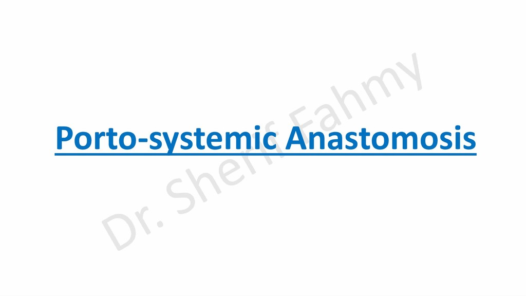 Porto-systemic Anastomosis