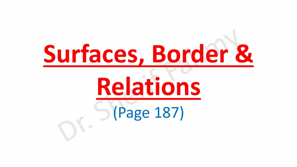 Surfaces, Border & Relations (Page 187)