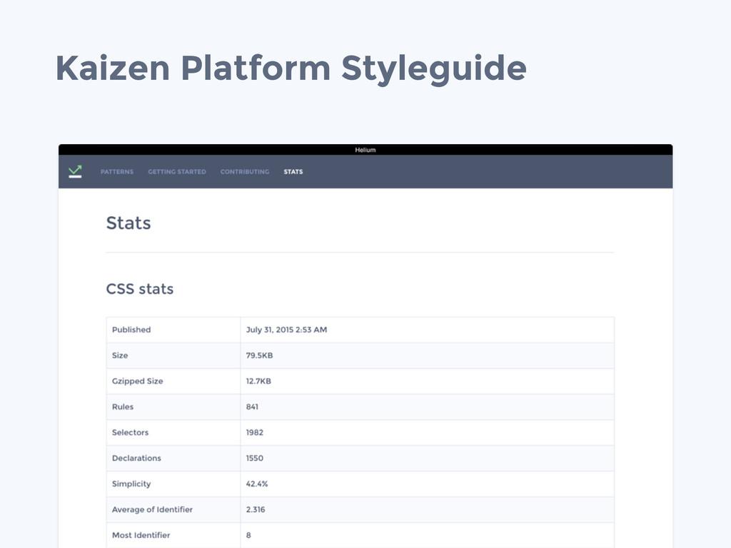 Kaizen Platform Styleguide