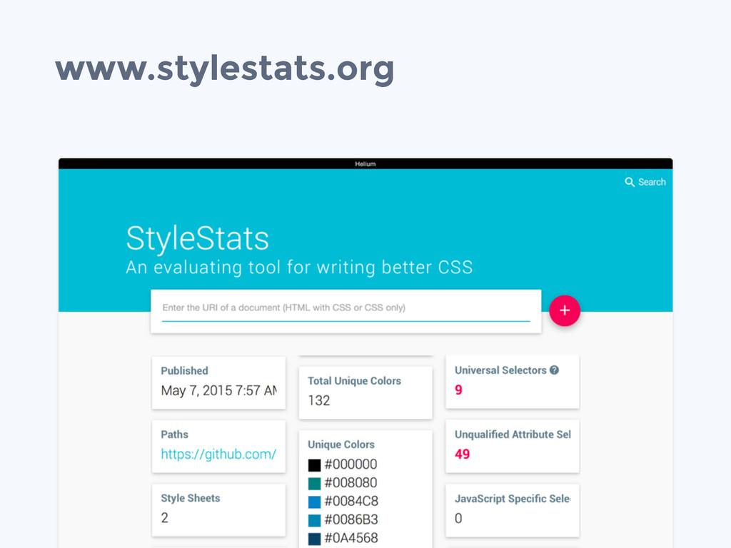 www.stylestats.org