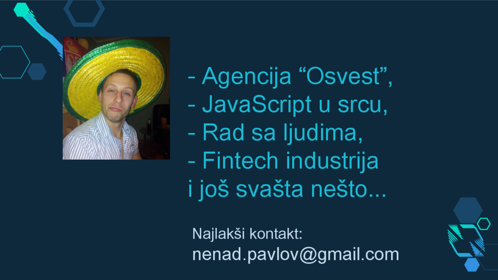 "- Agencija ""Osvest"", - JavaScript u srcu, - Rad..."