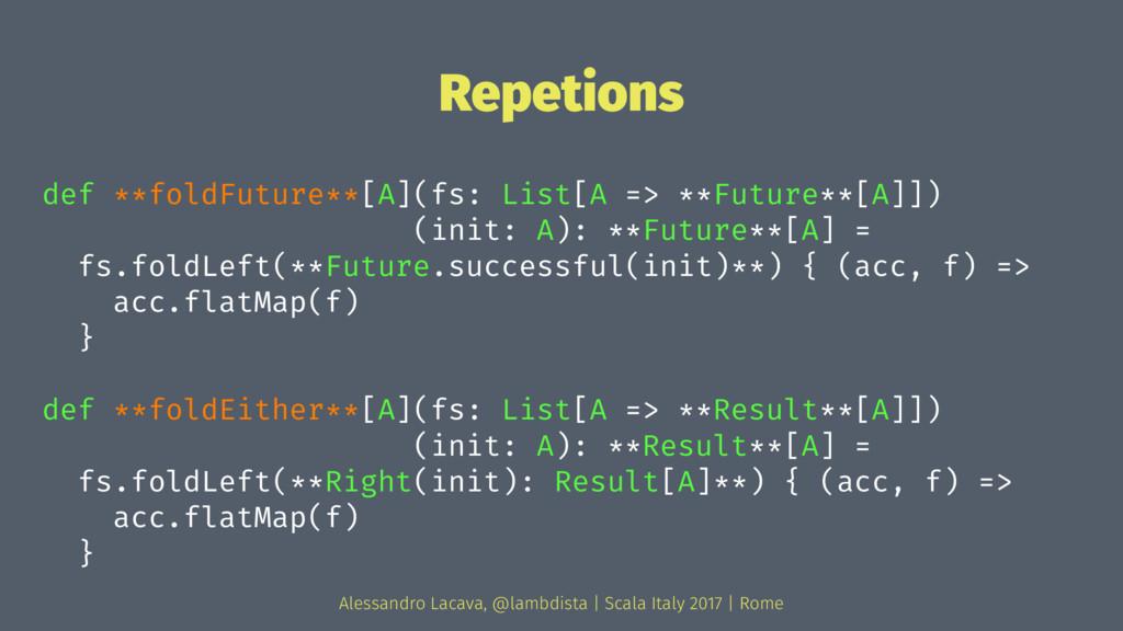 Repetions def **foldFuture**[A](fs: List[A => *...