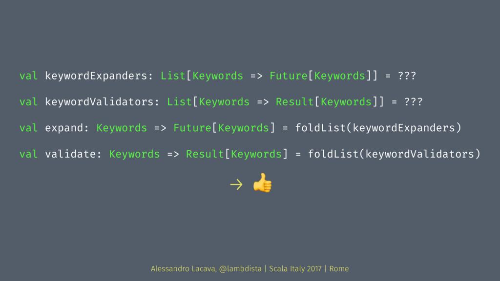 val keywordExpanders: List[Keywords => Future[K...