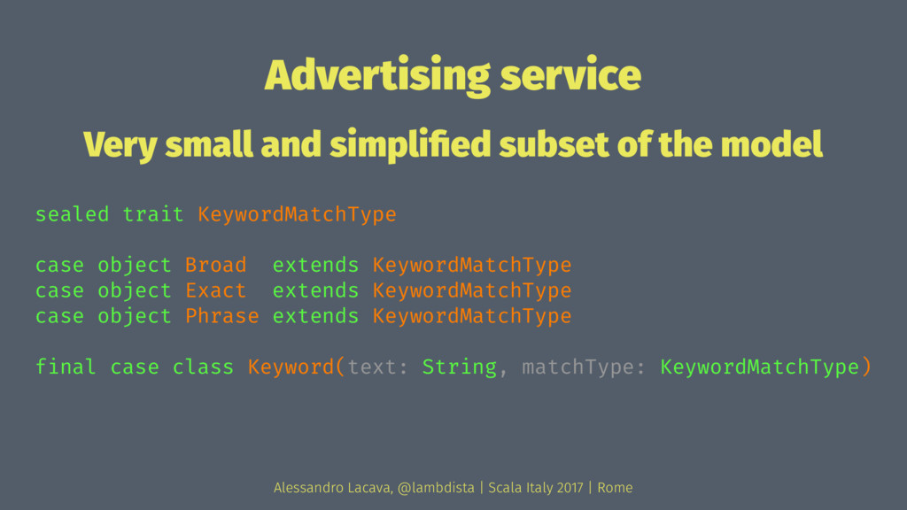 Advertising service Very small and simplified su...