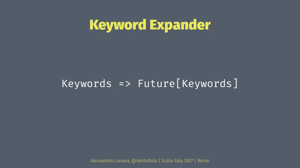 Keyword Expander Keywords => Future[Keywords] A...
