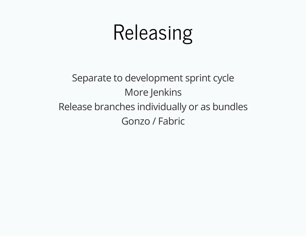 Releasing Separate to development sprint cycle ...