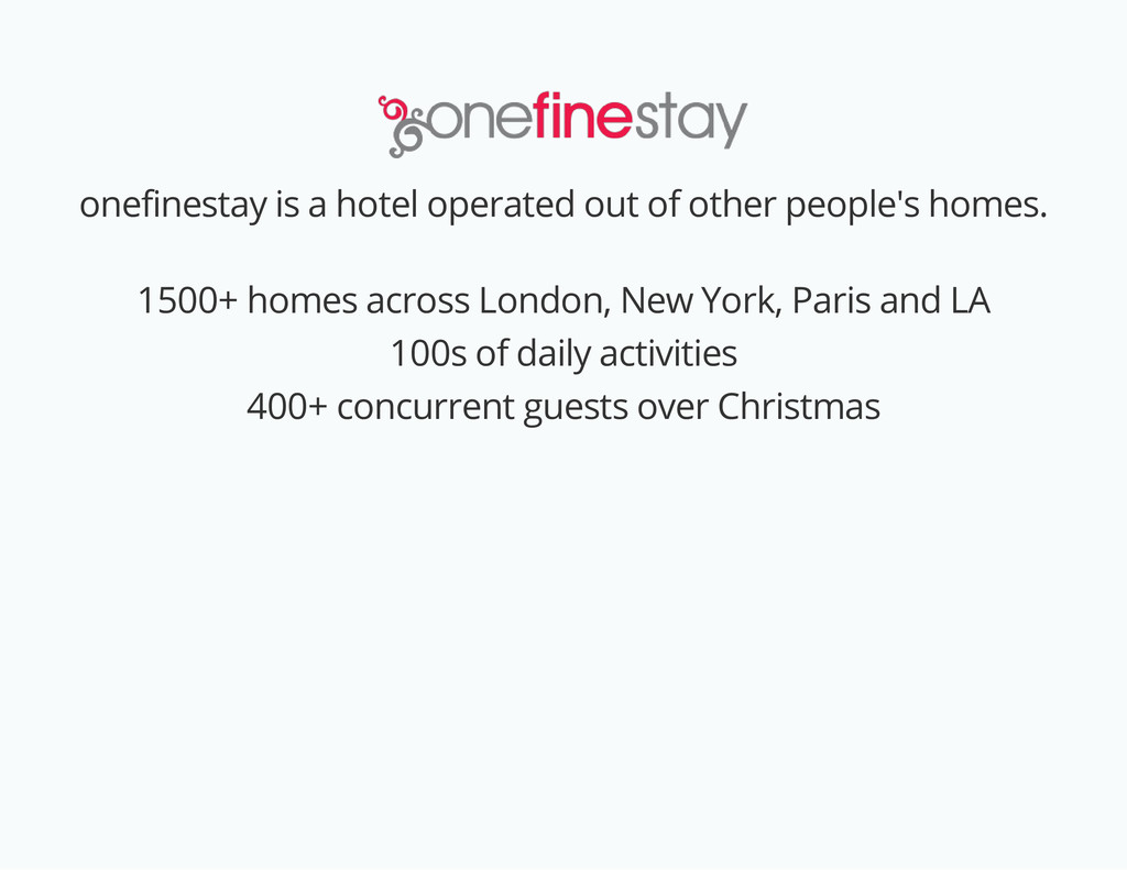 onefinestay is a hotel operated out of other pe...