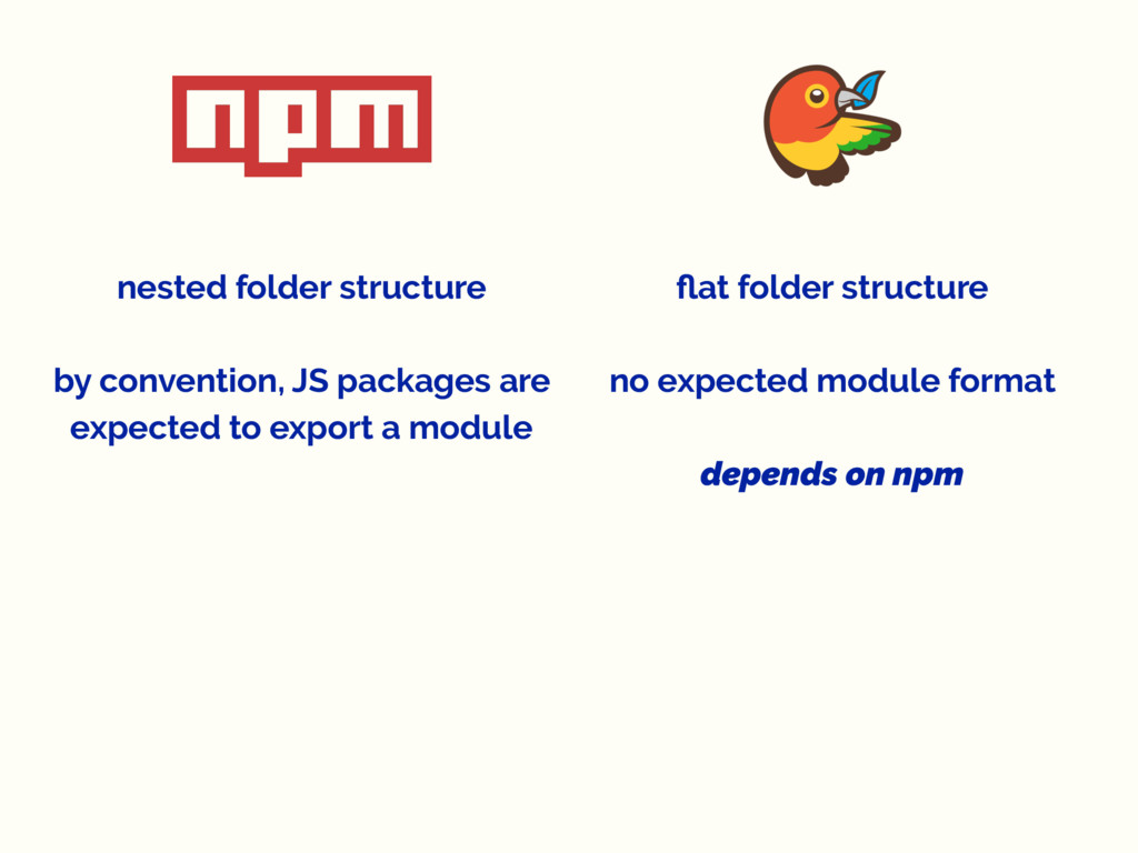 nested folder structure by convention, JS packa...