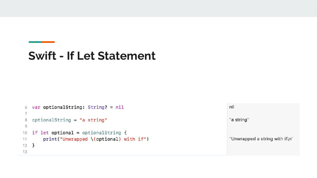 Swift - If Let Statement