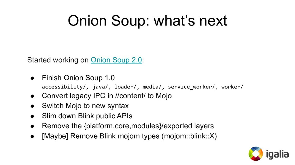 Onion Soup: what's next Started working on Onio...