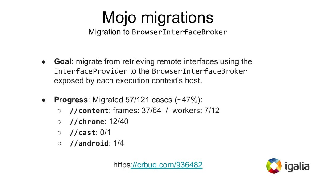 ● Goal: migrate from retrieving remote interfac...