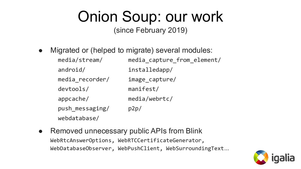 Onion Soup: our work (since February 2019) ● Mi...