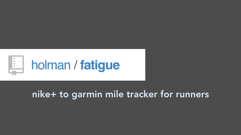 nike+ to garmin mile tracker for runners