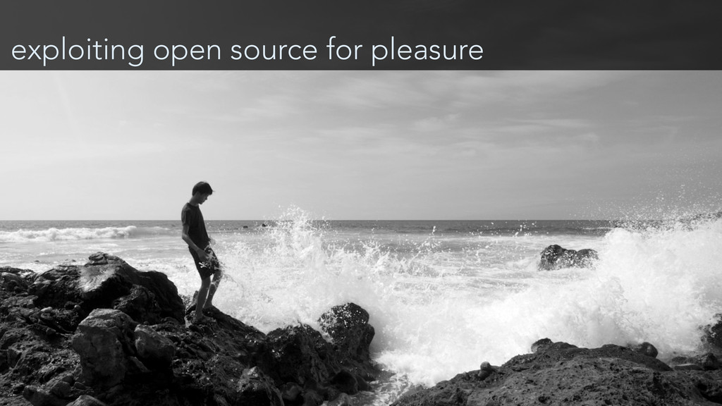 exploiting open source for pleasure