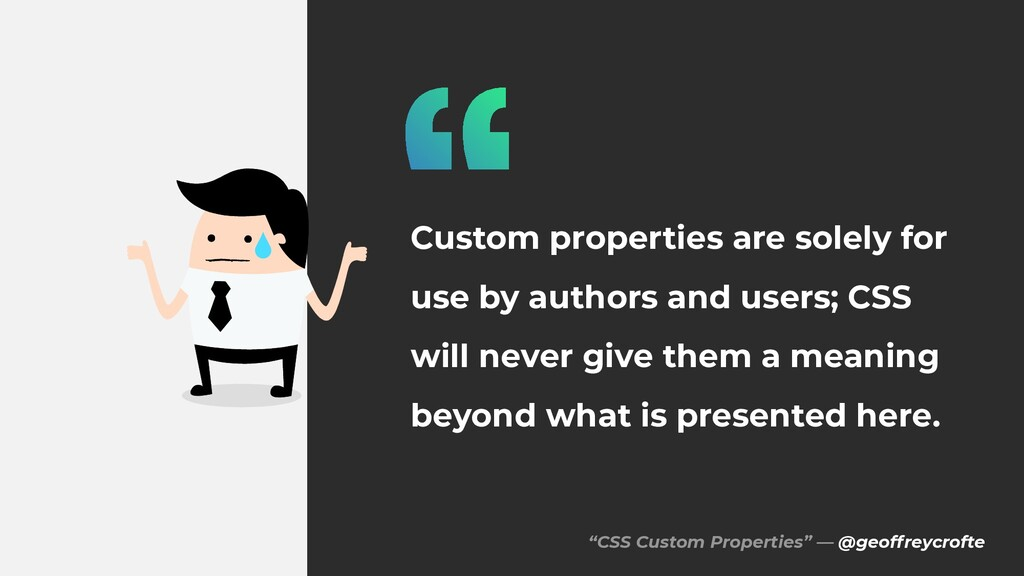 """CSS Custom Properties"" — @geoffreycrofte Custo..."