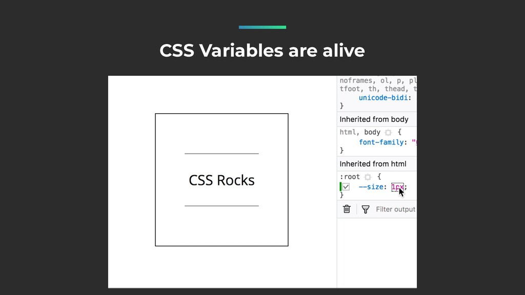 CSS Variables are alive
