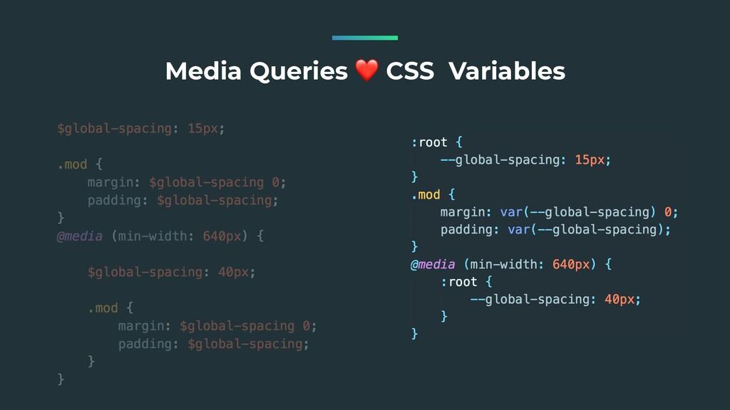Media Queries ❤ CSS Variables