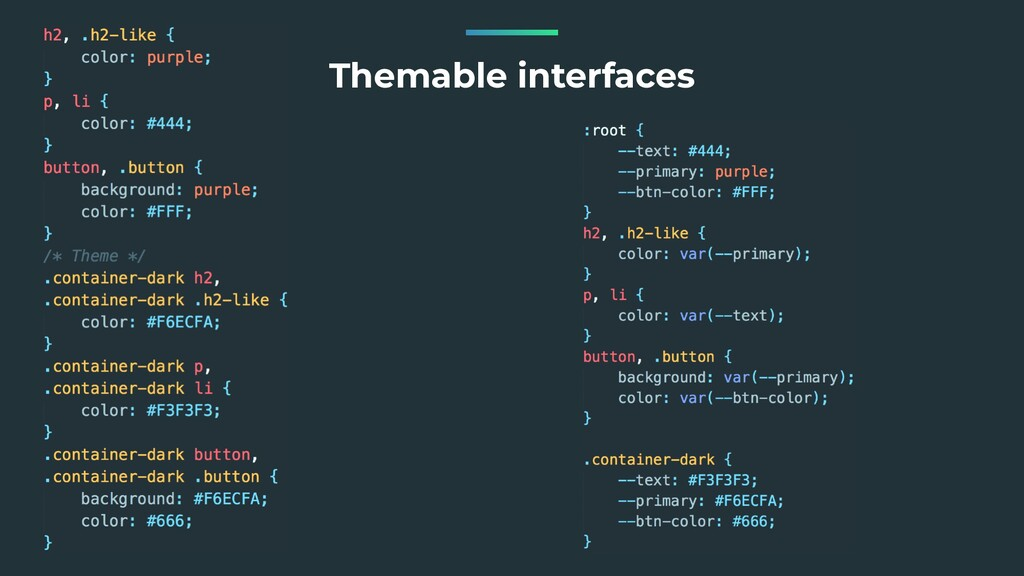 Themable interfaces