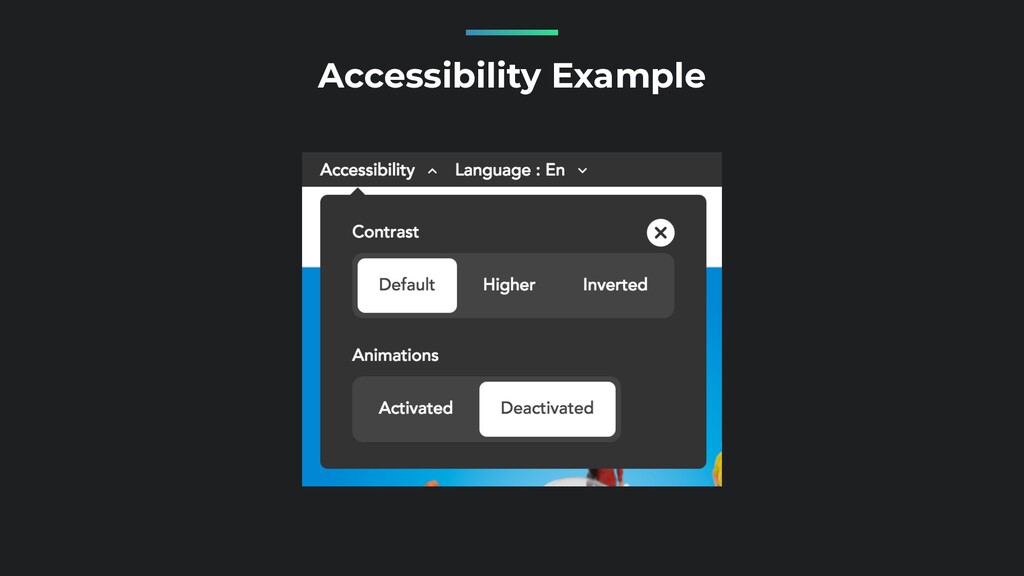 Accessibility Example