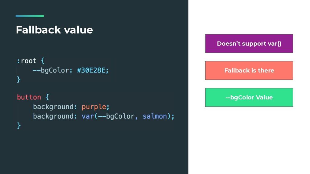 Fallback value Doesn't support var() Fallback i...