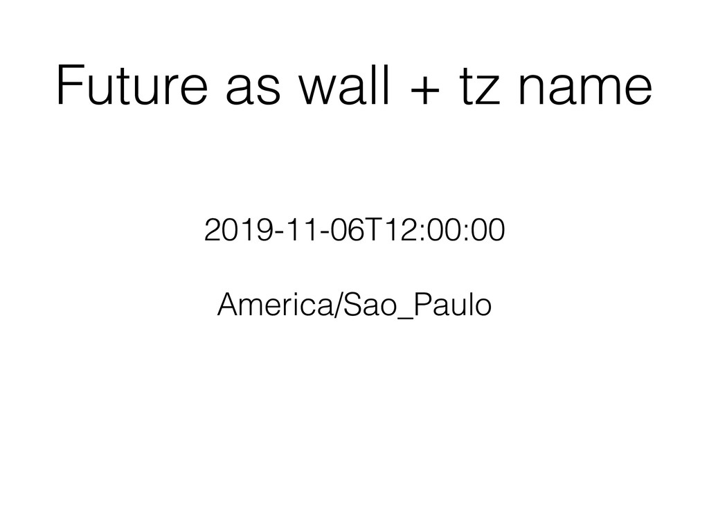 Future as wall + tz name 2019-11-06T12:00:00 Am...