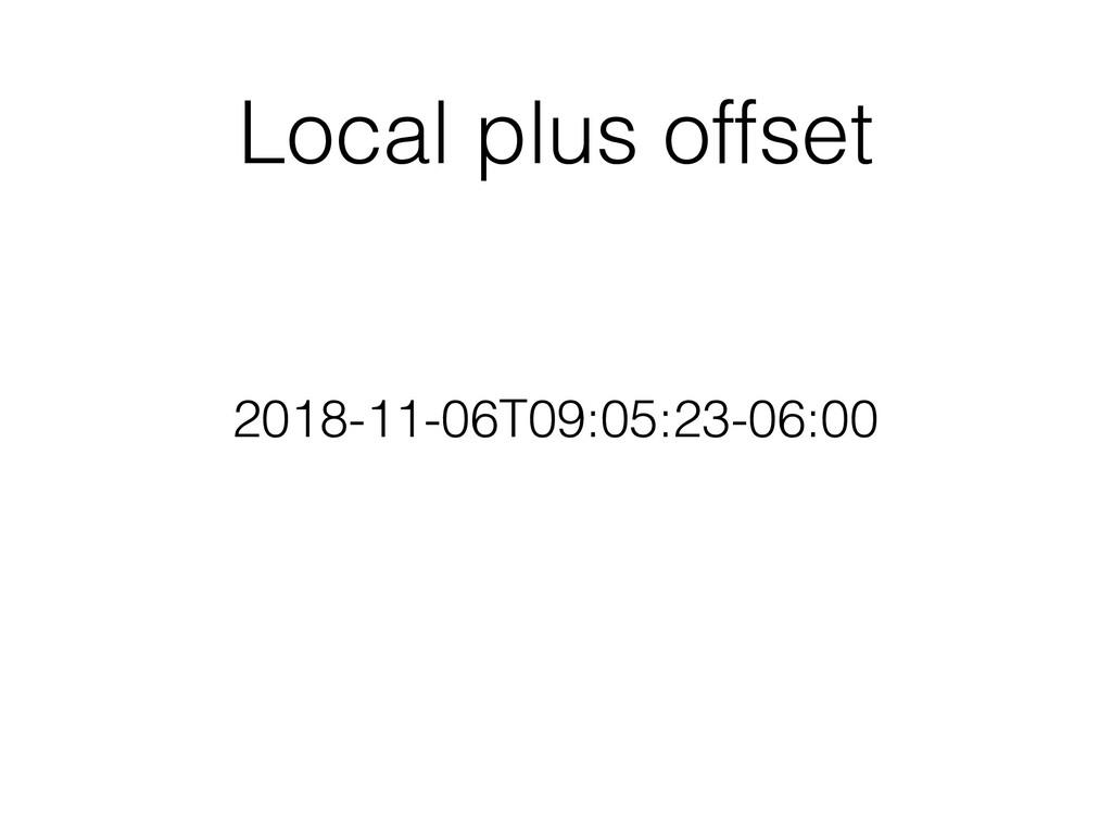 Local plus offset 2018-11-06T09:05:23-06:00