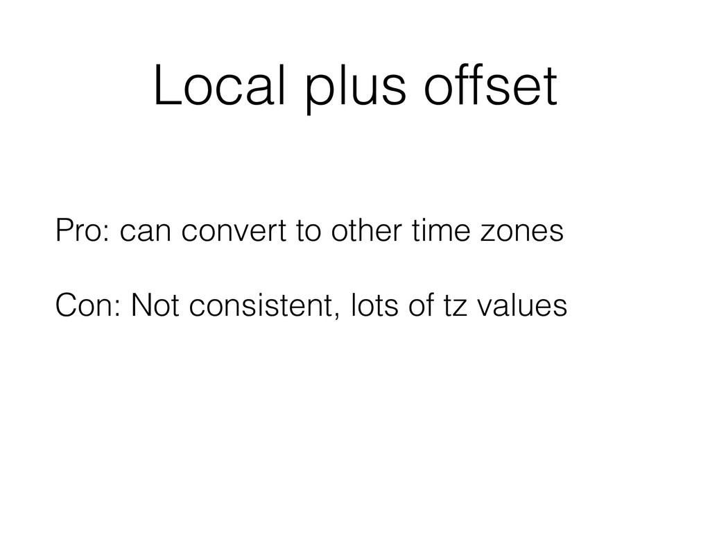Local plus offset Pro: can convert to other tim...